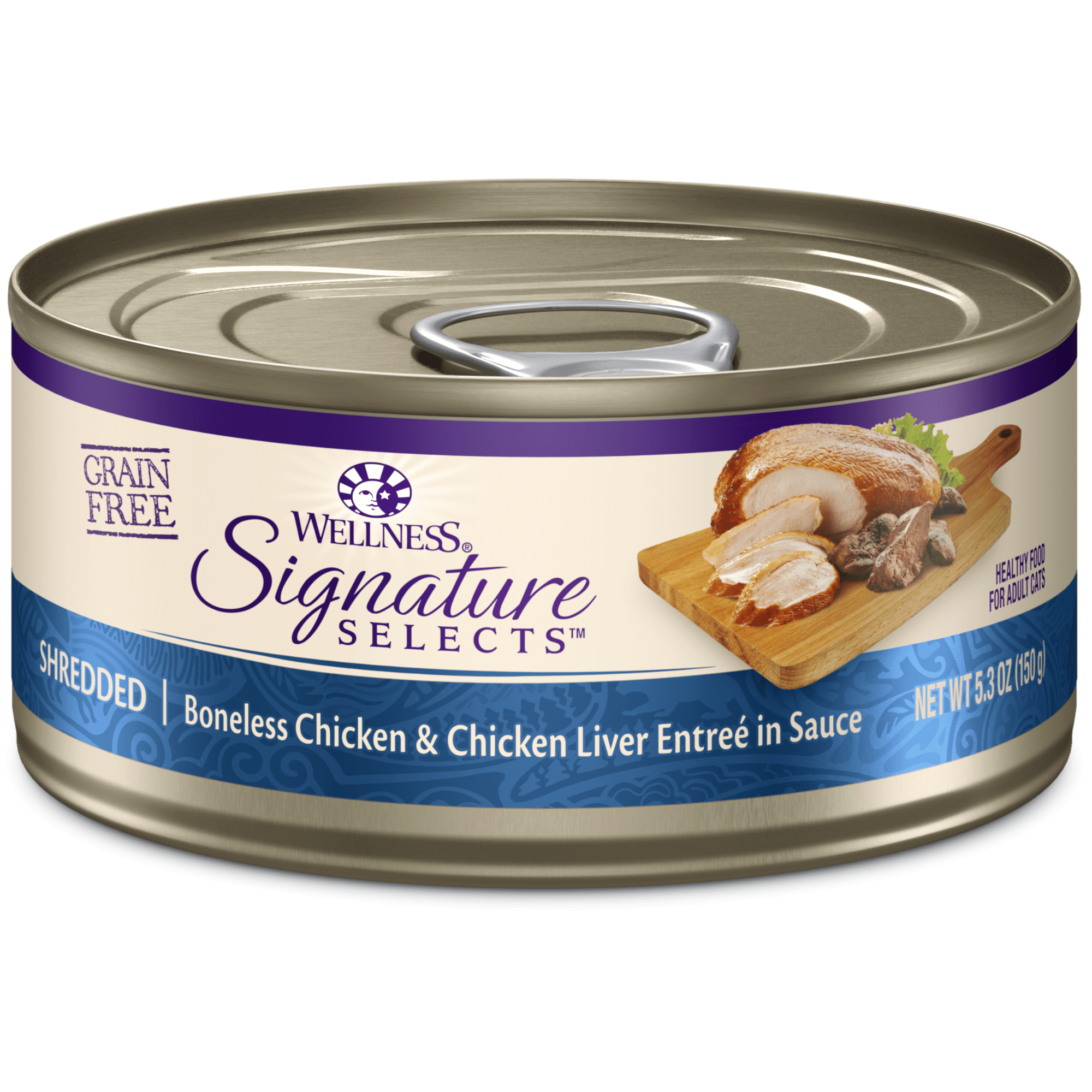 Wellness pet food wet cat food in singapore signature selects shredded white meat chicken with chicken liver entre in sauce forumfinder Choice Image